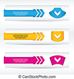 abstract header vector set