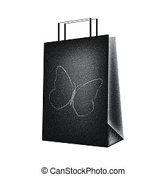 special shopping bag with black jeans design