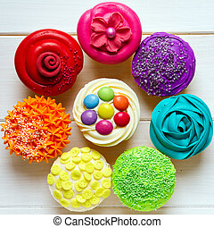 Cupcakes - Colorful cupcakes