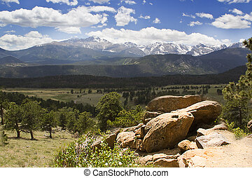 Rocky Mountain National Park - View of Continental Divide in...