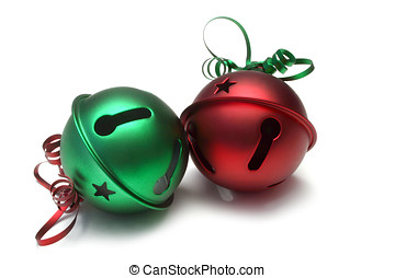 Jingle Bells - Large jingle bells, isolated on white