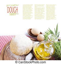 Dough ball - Fresh dough balls with egg, olive oil, fresh...