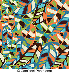 Abstract leaf pattern background - Abstract colorful leaves...