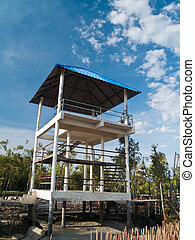 Tower view point - View point tower in mangrove educational...