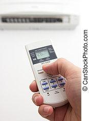 Air conditioner - Setting air conditioner temperature to 26...