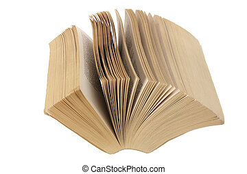 Paperback on White Background