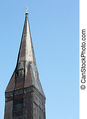 Shrouded Steeple - Curious black net shrouded christian...