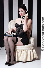 Pinup Style Vintage Sexy Image - Sexy Pinup Style Vintage...