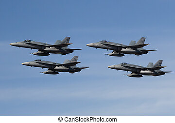 Hornet Flyby - Australian Hornet fighter jets in formation