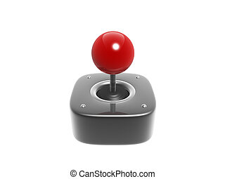 joystick - simple joystick game controller isolated on white...