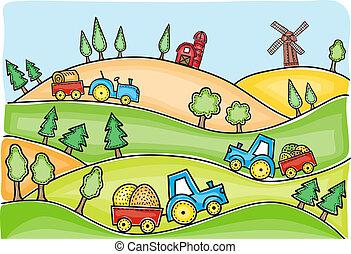 Høst,  Illustration, Tid