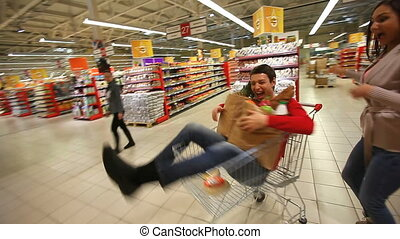 Head is spinning - Funny shoppers knocking themselves out in...