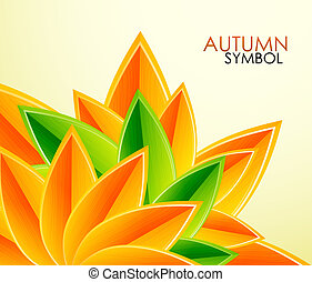 Autumn leaves vector background - Abstract natural...