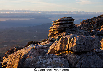 Spain mountains - Mountains Sierra Del Torcal in Spain
