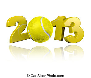 Tennis 2013 design with a White Background