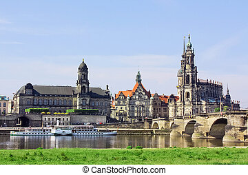Old town of Dresden,Saxony,Germany - One of Germany's most...