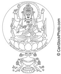 Ragaraja Buddhist Deity - Raga Vidyaraja, also known as...