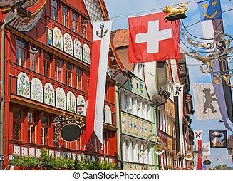 Appenzell, Switzerland, Hauptgasse street - Hauptgasse, the...