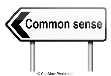 Common sense concept - Illustration depicting a road traffic...