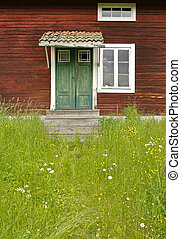 Rural cottage and garden - Detail of a beautiful rural...