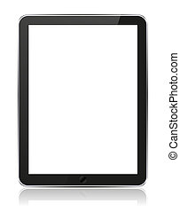 Vector realistic computer tablet isolated on white. Eps10 illustration