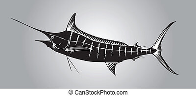 Marlin - Marlin fish in silhouette