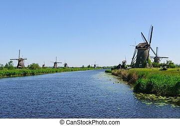 Mill Network at Kinderdijk-Elshout, - Kinderdijk is a...