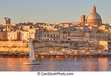 Valletta, Malta - Valletta, the Capital City of Malta in...