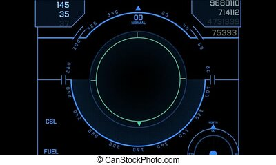 aviation radar GPS navigation screen display,center of...