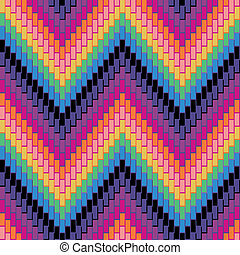 Herringbone Pattern_Multi - Seamless herringbone pattern in...