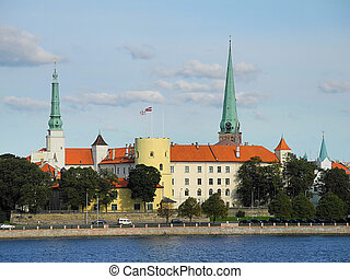Castle of Riga in Latvia - Castle of Riga in the ancient...