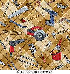 Household Tools Plaid - Home construction and repair tools...