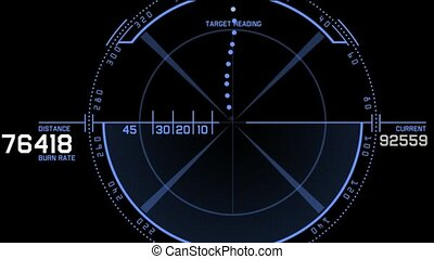 aviation radar GPS navigation screen display,bullet shot...