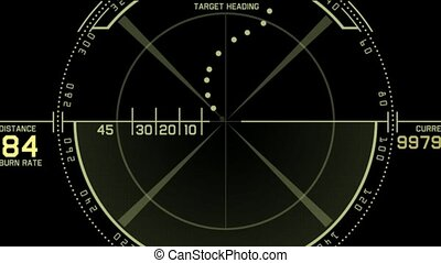 aviation radar GPS navigation screen display,bullet shot &...