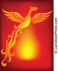 Phoenix bird  - Vector Illustration Of Phoenix bird