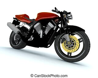 Red Motor cycle