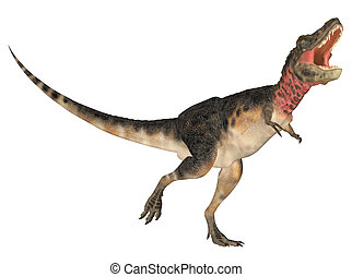 Tarbosaurus - Illustration of a Tarbosaurus dinosaur species...