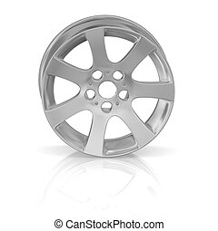 Disk of a wheel on white background - Disk of a wheel on...