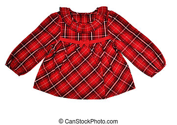 baby blouse - red baby blouse isolated on the white