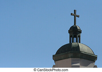 St Maryu2019s Basilica, Phoenix, Az - Bell tower with cross...
