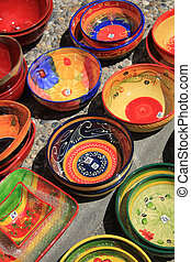 Provencal pottery - Colorful pottery in the Provence, France