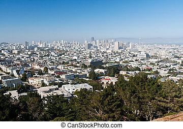 San Francisco Skyline - San Francisco dowtown skyline on a...