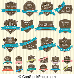 Vector collection of Premium Quality labels