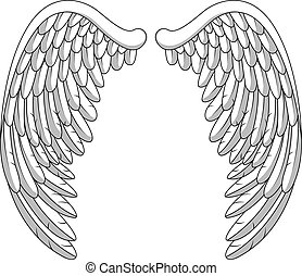 Angel wings  - Vector Illustration Of Angel wings