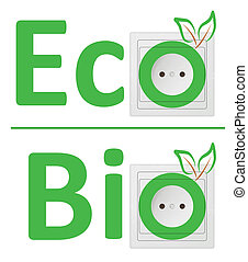 ecological concept, symbolizing bio energy