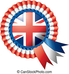 Rosette flag - Detailed rosette flag of UK, eps10 vector...
