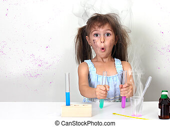 unsuccessful explosive chemical experiment - dirty child...