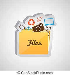 File folder icon isolate on white background, vector...