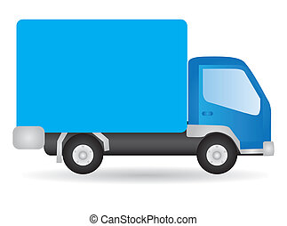 vecteur, Illustration, camion