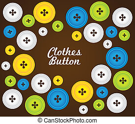 pattern of colored buttons